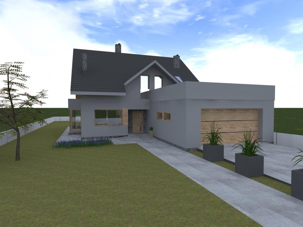 Projekt wnętrza Wizualizacja domu