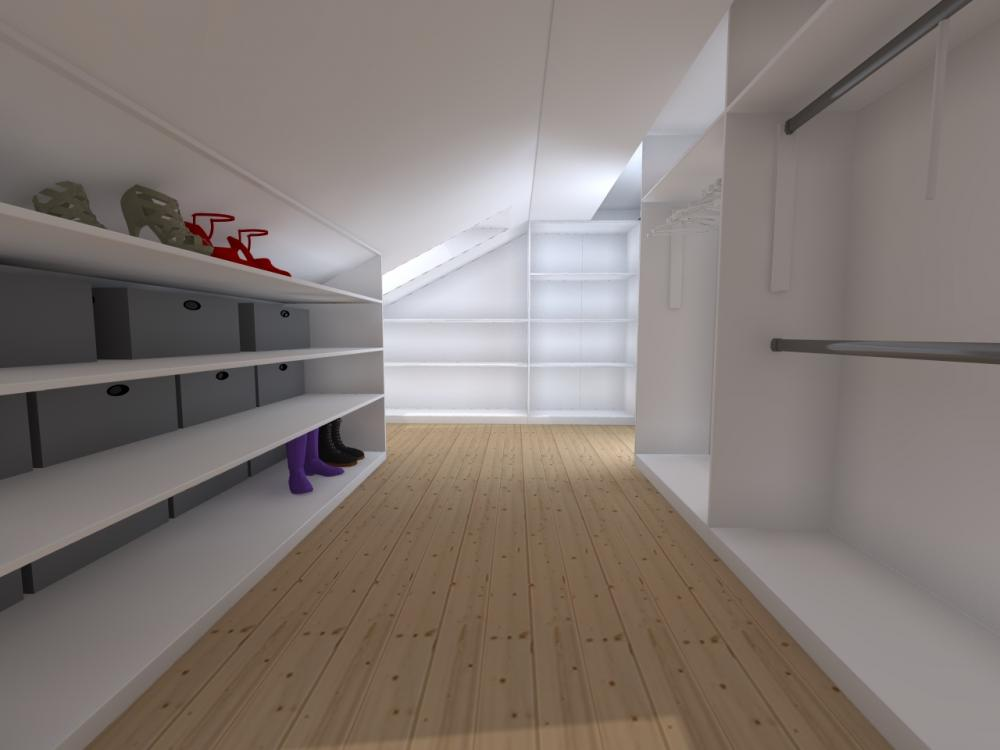 Projekt wnętrza Garderoba