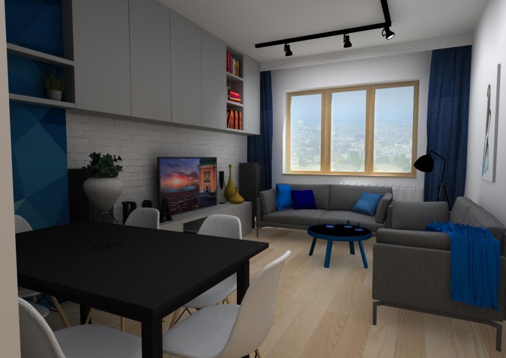 Projekt wnętrza Mieszkanie1 w Tychach