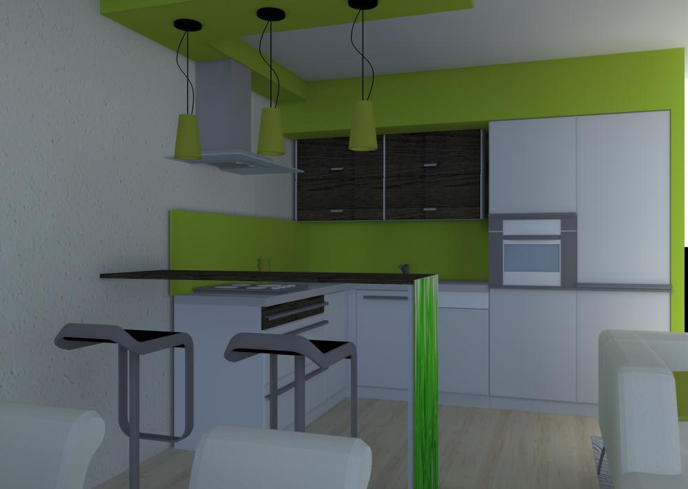 Projekt wnętrza Mieszkanie kawalerka w Tychach