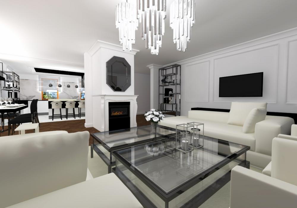 Projekt wnętrza Dom w stylu glamour